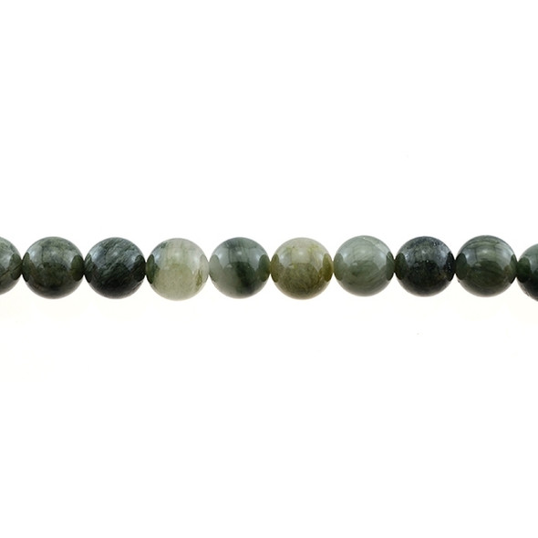 Green Line Quartz Round 10mm - Loose Beads
