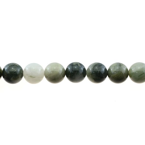 Green Line Quartz Round 12mm - Loose Beads