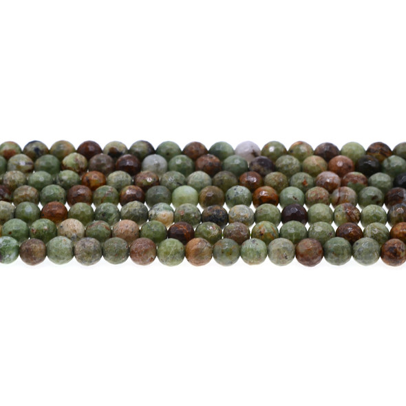 Green Opal Jasper Round Faceted 6mm - Loose Beads