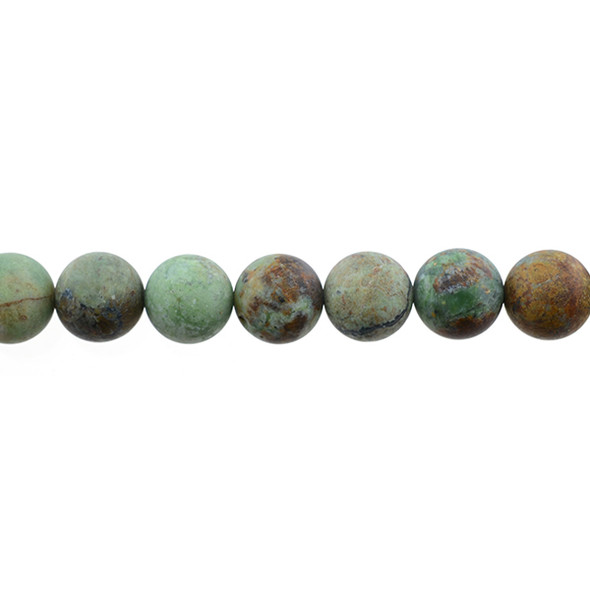 Green Opal Jasper Round Frosted 10mm - Loose Beads