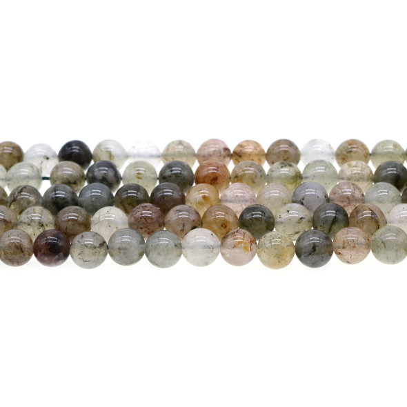 Green Phantom Quartz Round 8mm - Loose Beads