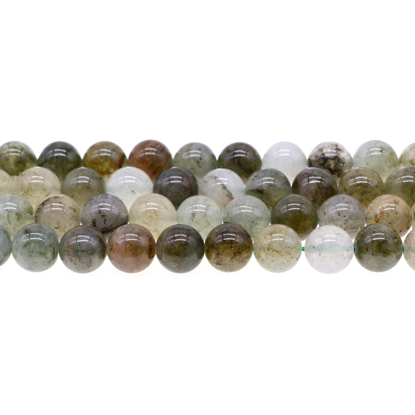 Green Phantom Quartz Round 10mm - Loose Beads