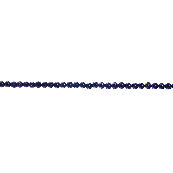 Blue Gold Stone Round 3mm - Loose Beads