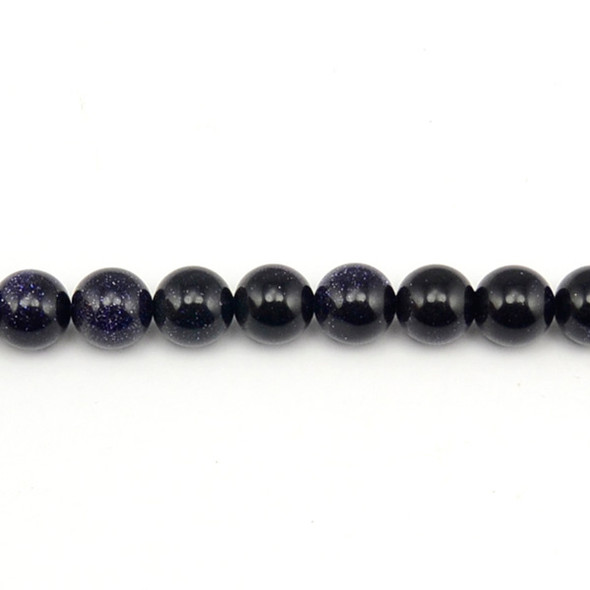 Blue Gold Stone Round 10mm - Loose Beads