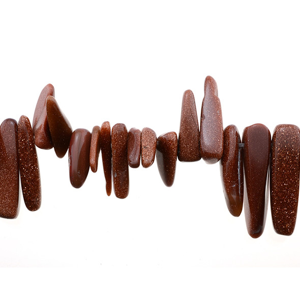 Brown Gold Stone Chip Sticks 16mm x 6mm x 5mm - Loose Beads