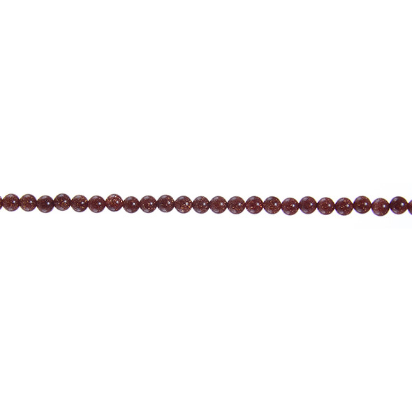 Brown Gold Stone Round 3mm - Loose Beads