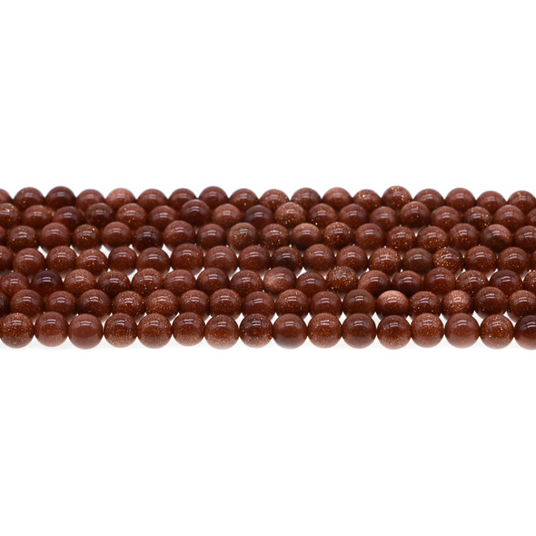 Brown Gold Stone Round 6mm - Loose Beads