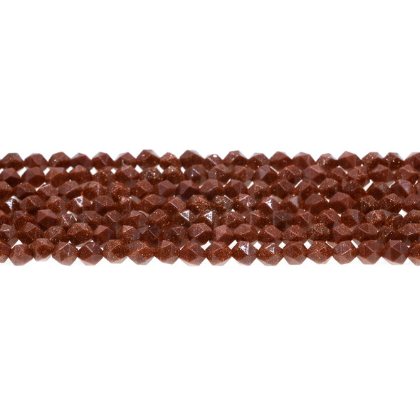 Brown Gold Stone Round Large Cut 6mm - Loose Beads