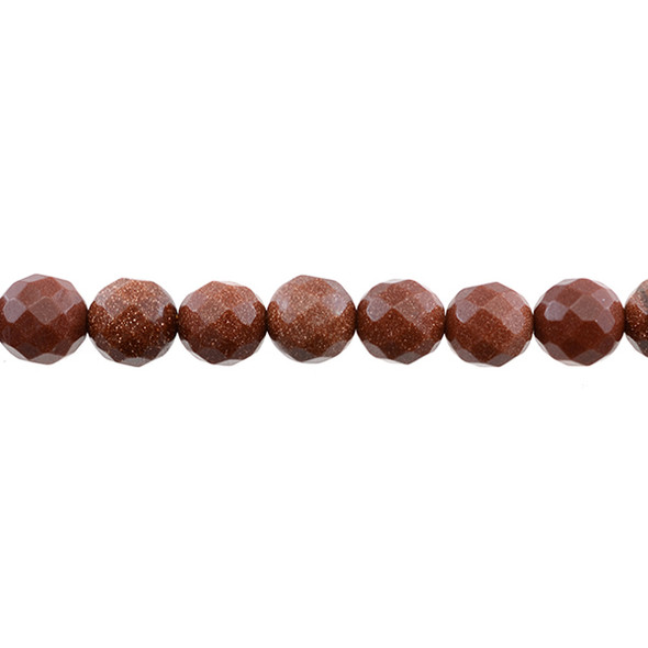 Brown Gold Stone Round Faceted 10mm - Loose Beads