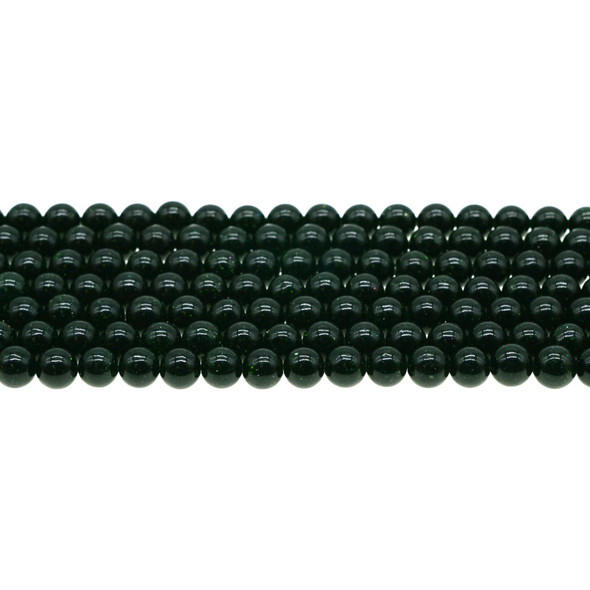 Green Gold Stone Round 6mm - Loose Beads