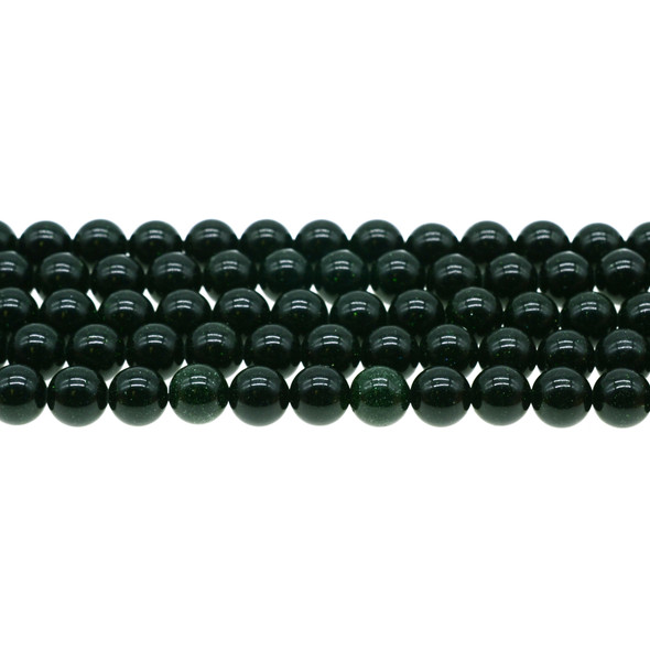 Green Gold Stone Round 8mm - Loose Beads