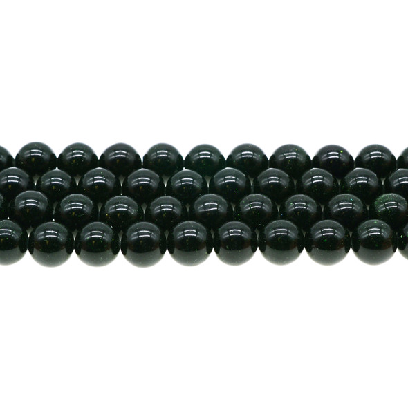 Green Gold Stone Round 10mm - Loose Beads
