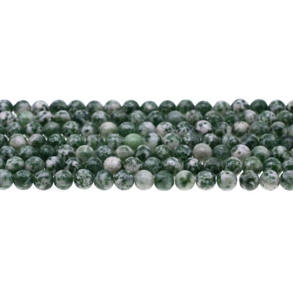 Green Spot Jasper Round 6mm - Loose Beads