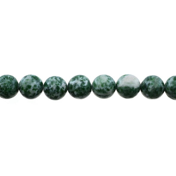Green Spot Jasper Round 10mm - Loose Beads