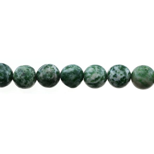 Green Spot Jasper Round 12mm - Loose Beads