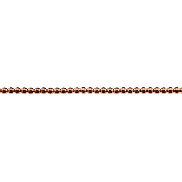Rose Gold Plated Hematite Round 3mm - Loose Beads
