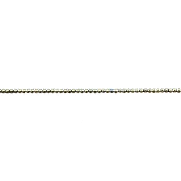 Golden Hematite Round 2mm - Loose Beads