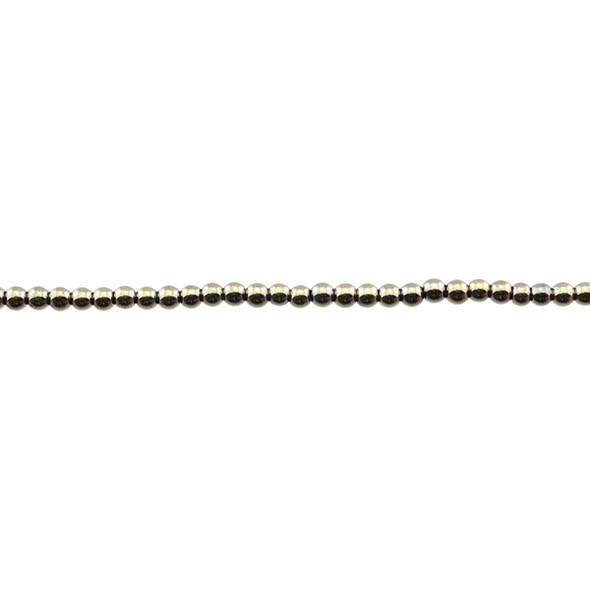 Golden Hematite Round 3mm - Loose Beads