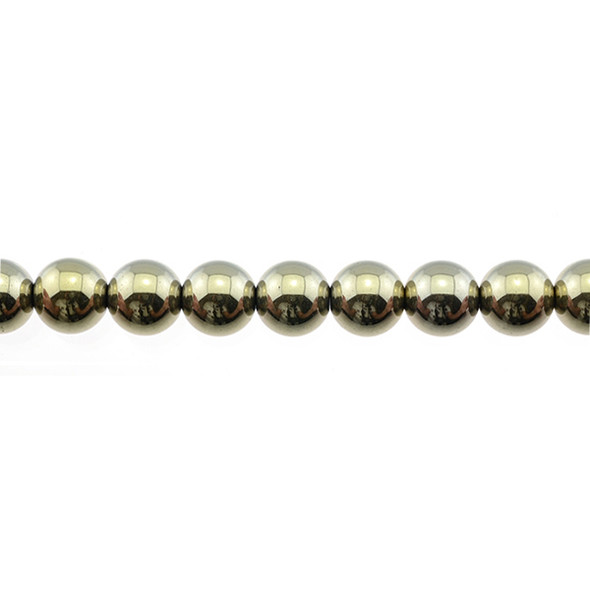 Golden Hematite Round 8mm - Loose Beads