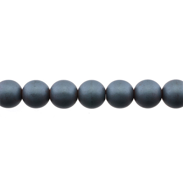 Hematite Round Frosted 10mm - Loose Beads