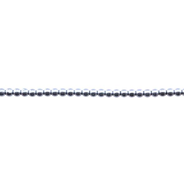 Silver Metallic Hematite Round 3mm - Loose Beads