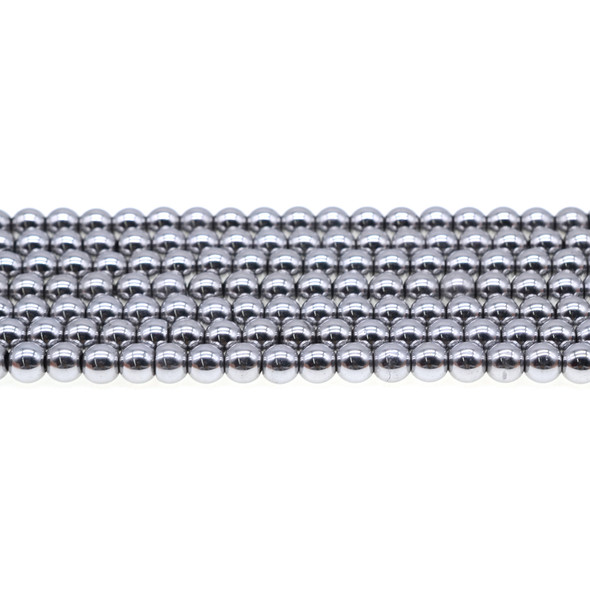 Silver Metallic Hematite Round 6mm - Loose Beads