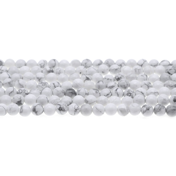 Howlite Round 6mm - Loose Beads