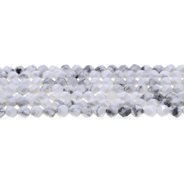 Howlite Round Large Cut 6mm - Loose Beads
