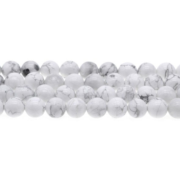 Howlite Round 10mm - Loose Beads