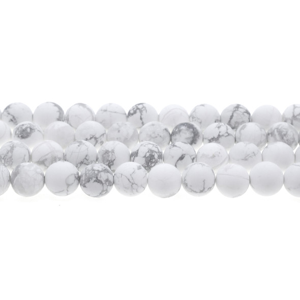Howlite Round Frosted 10mm - Loose Beads