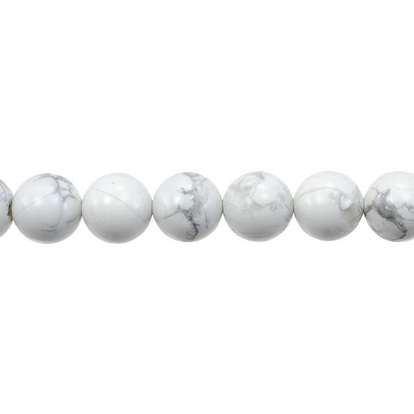 Howlite Round 12mm - Loose Beads