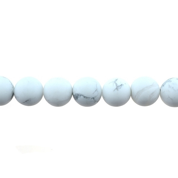 Howlite Round Frosted 12mm - Loose Beads