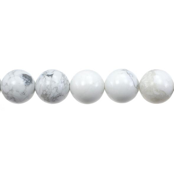 Howlite Round 14mm - Loose Beads