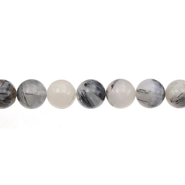 Hair Quartz Round 12mm - Loose Beads