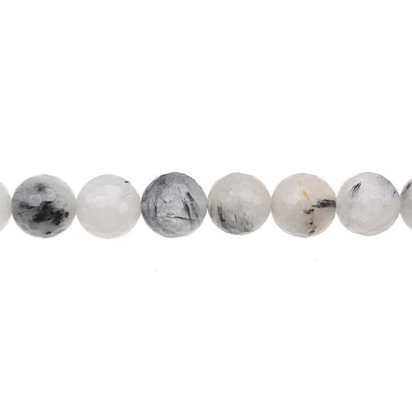 Hair Quartz Round Faceted 12mm - Loose Beads