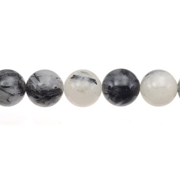 Hair Quartz Round 16mm - Loose Beads