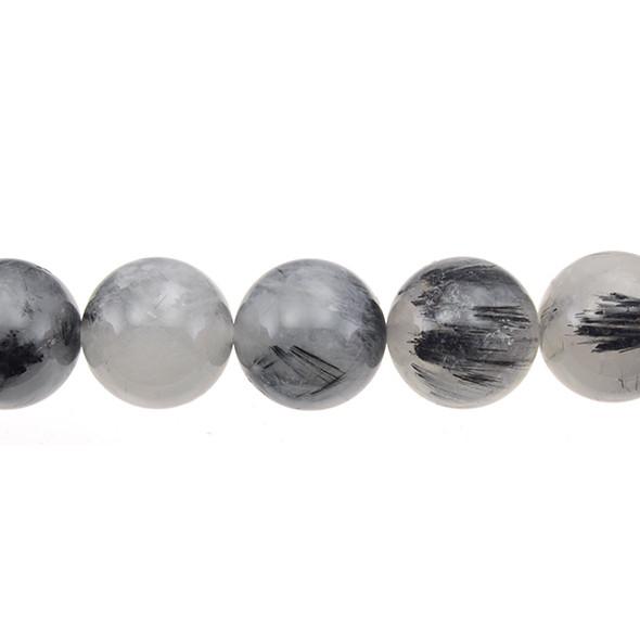 Hair Quartz Round 18mm - Loose Beads
