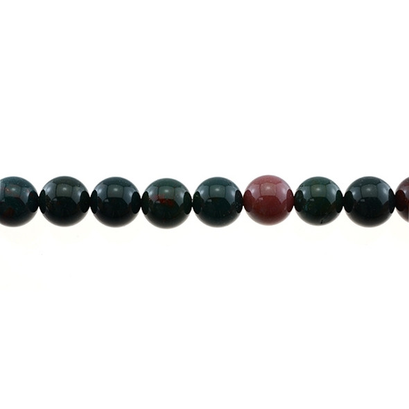 Indian Bloodstone Round 10mm - Loose Beads