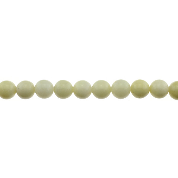 Ivory Jade Round 10mm - Loose Beads