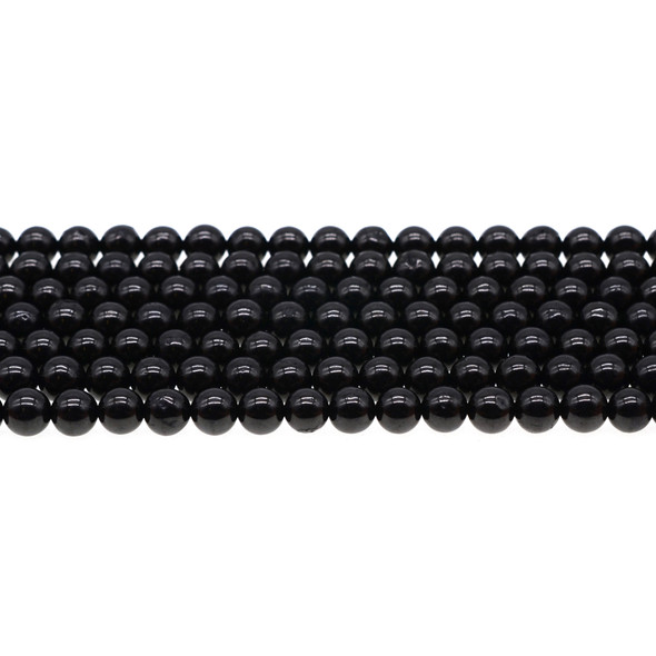 Jet Stone Round 6mm - Loose Beads