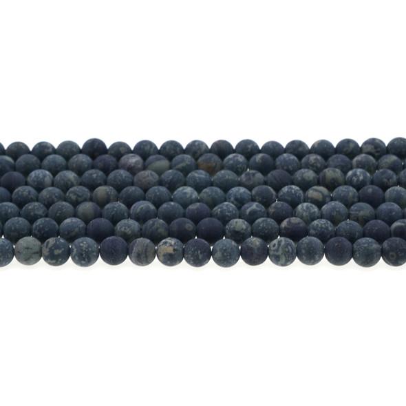 Kambaba Jasper Round Frosted 6mm - Loose Beads