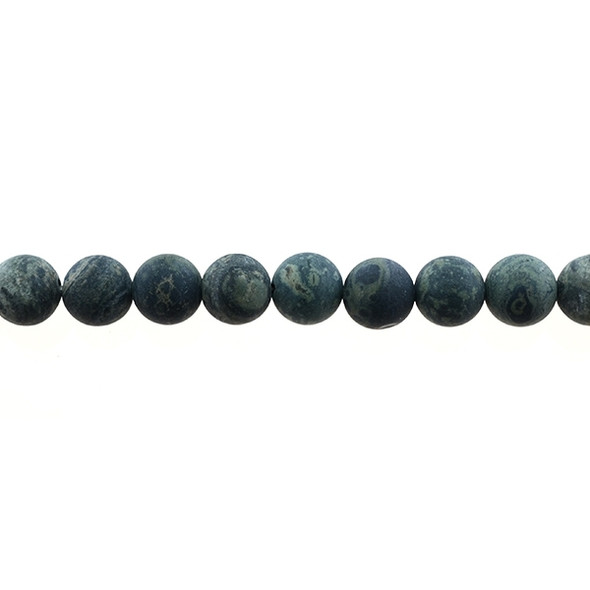 Kambaba Jasper Round Frosted 10mm - Loose Beads