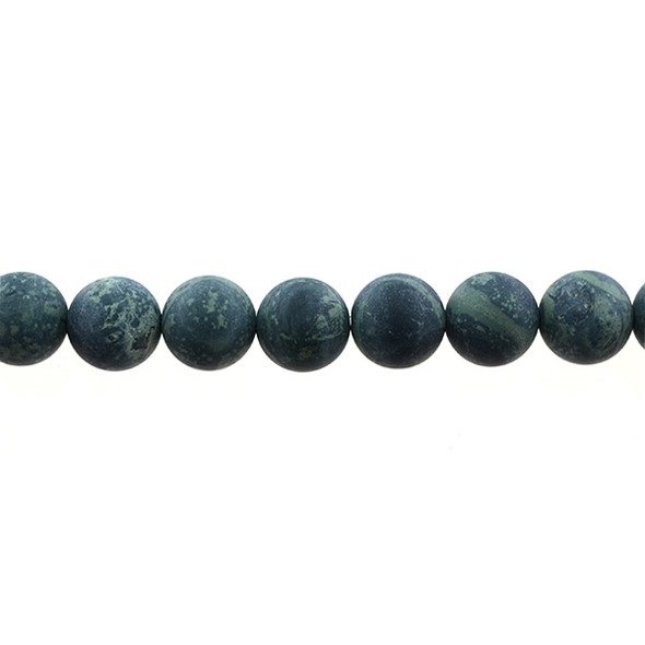Kambaba Jasper Round Frosted 12mm - Loose Beads