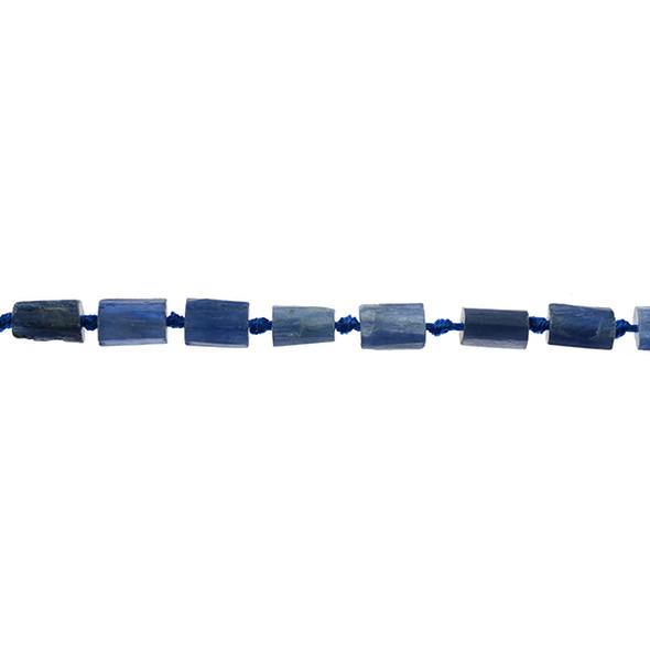Kyanite Hexagone Prism Irregular 8mm x 8mm x 10mm - Loose Beads