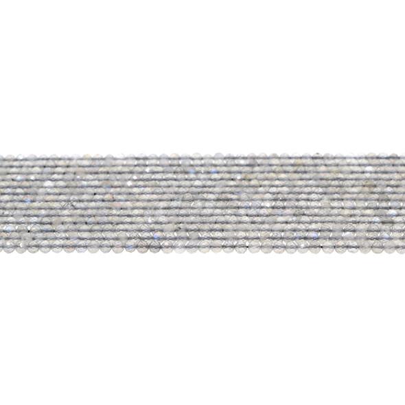 Labradorite Round Faceted Diamond Cut 3mm - Loose Beads