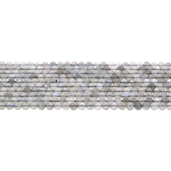 Labradorite Round Faceted Diamond Cut 4mm - Loose Beads