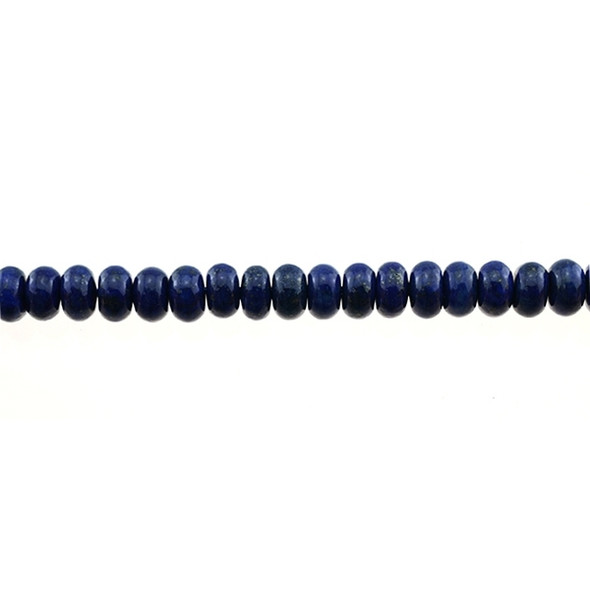 Color Enchanced Lapis Roundel 8mm x 8mm x 5mm - Loose Beads