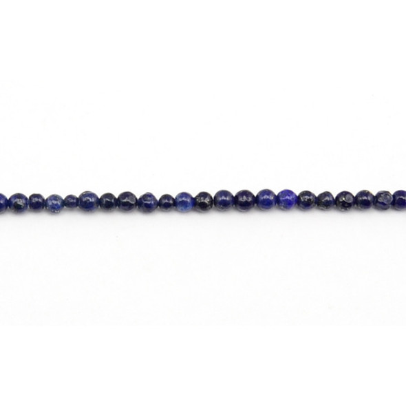 Color Enhanced Lapis Round 3mm - Loose Beads