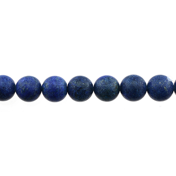 Color Enhanced Lapis Round Frosted 10mm - Loose Beads