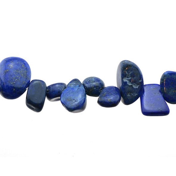 Color Enchanced Lapis Tumble Side Drilled 12mm x 9mm x 4mm - Loose Beads
